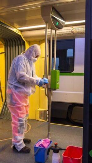 Désinfection des tramways à Nantes : Nos agents à l'honneur !