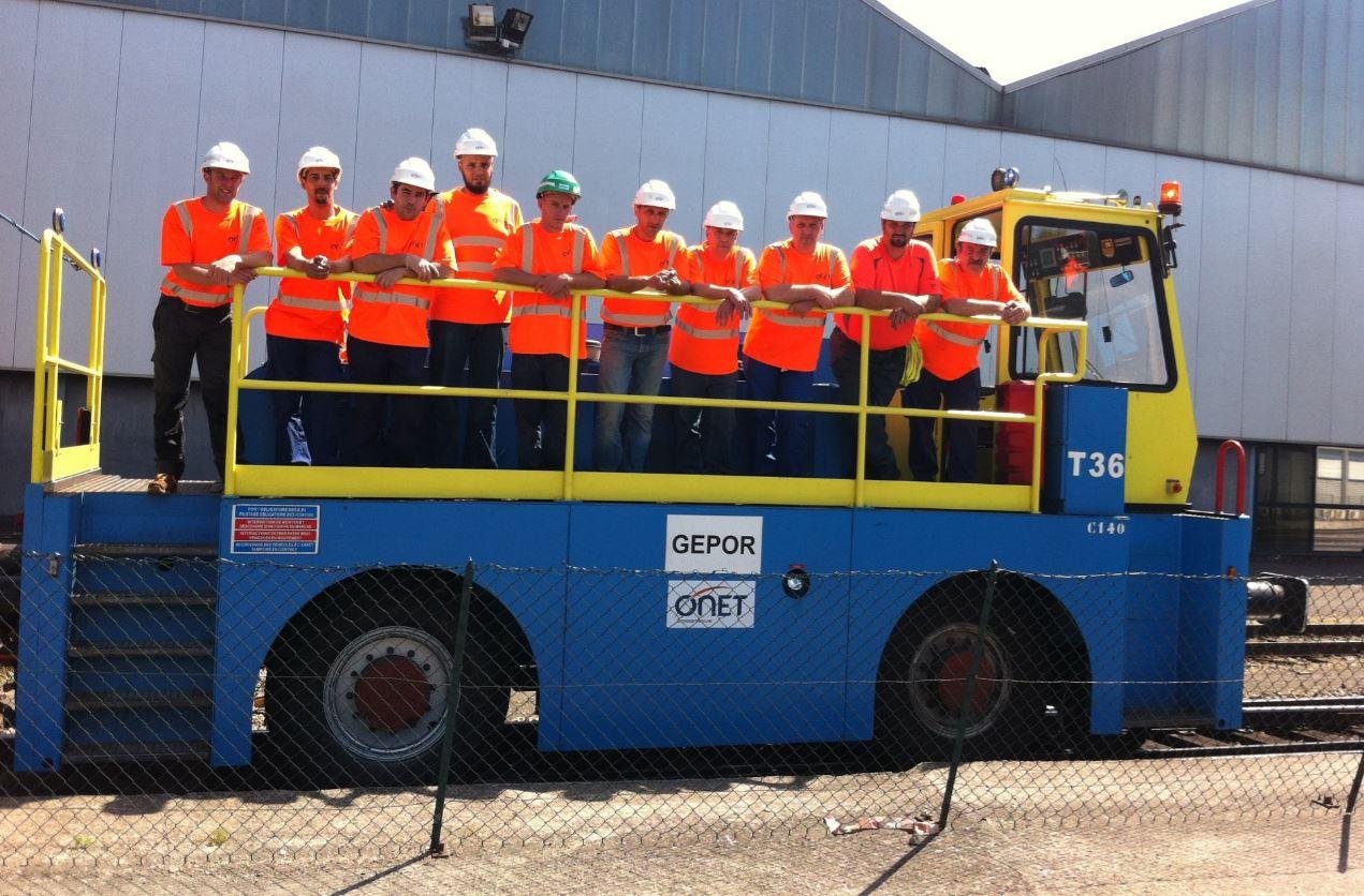 Les équipes Onet Logistique spécialisées en manœuvre ferroviaire.
