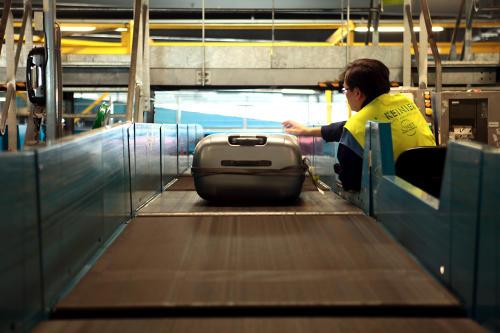 Visuel tri bagages Aéroport