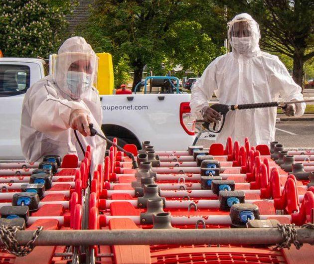 Centre commercial : Les équipes Onet assurent la désinfection et le nettoyage d'Auchan Grand Epagny