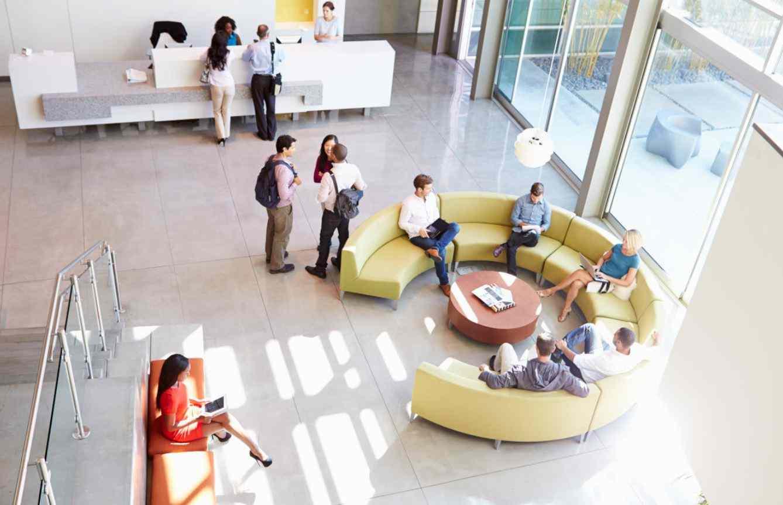 Onet France - Hall d'immeuble de bureaux
