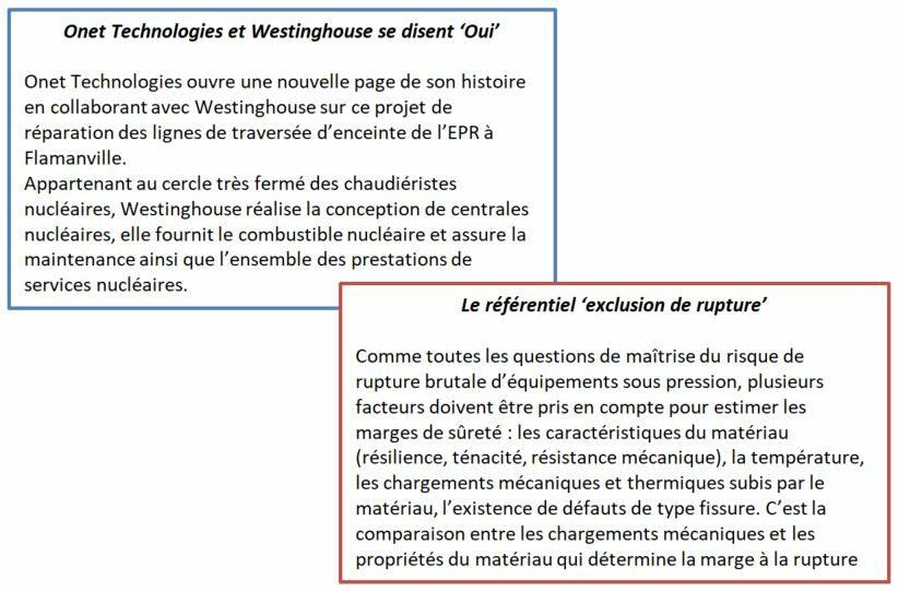 """Onet Technologies et Westinghouse se disent """"Oui"""" et le référentiel """"Exclusion de rupture"""""""