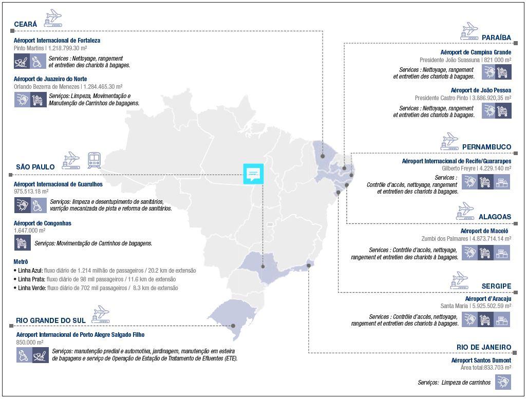 Carte Brésil et Onet