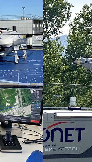 Onet Sécurité expérimente le drone autonome de surveillance aérienne sur un site nucléaire sensible