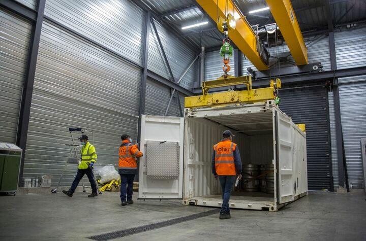Détection radioactivité sur Conteneur à Sogeval