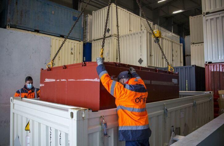 Positionnement de conteneurs par des agents Onet Technologies