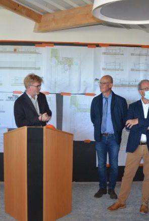 Onet Technologies Formation : Point d'étape sur la future Maison des Entreprises et de la Formation en compagnie de Marc Fesneau, Ministre chargé des Relations avec le Parlement